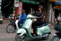 """High-class Lady"" on a moped"