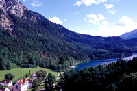 Mountains near Hohenschwangau Castle in Bavaria, Germany